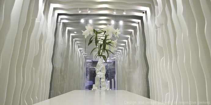 Exceptional decorative wall cladding in corian dupont united kingdom - Revetement mural original ...