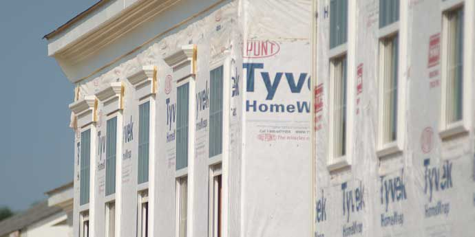 uses of tyvek building wrap