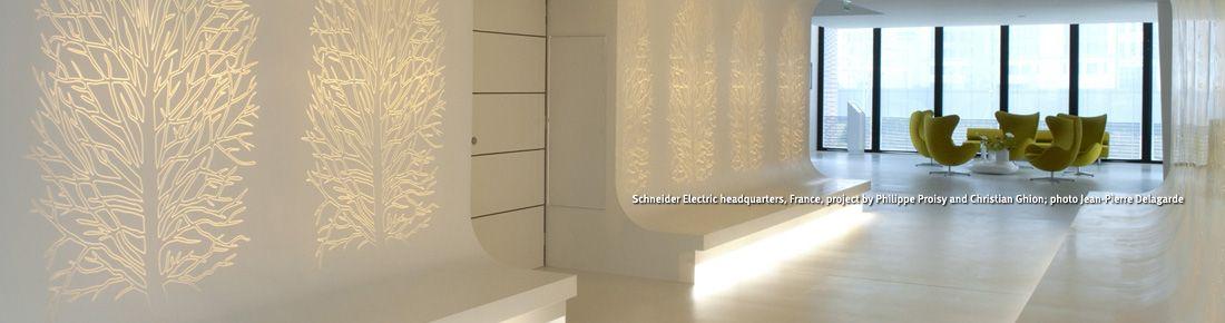 Wall panels corian dupont usa - Materiales para forrar paredes interiores ...