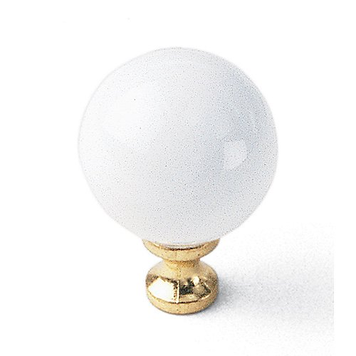 "01942 Cabinet Knob 1.25"" White By Laurey"