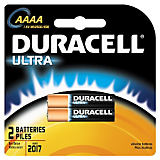 Duracell Ultra Power AAAA Batteries (2 Pack)