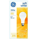GE 150W A21/E26 General Incandescent Bulb Soft White