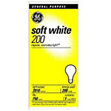GE 200W A21/E26 General Incandescent Bulb Soft White