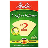 Melitta No. 2 Natural Brown Filter Paper, 40 Ct.
