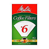 Melitta No. 6 White Filter Paper, 40 Ct.