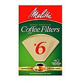 Melitta No. 6 Natural Brown Filter Paper, 40 Ct.