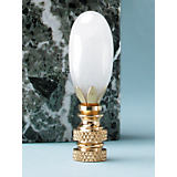 Finial Showcase Milky Quartz Finial