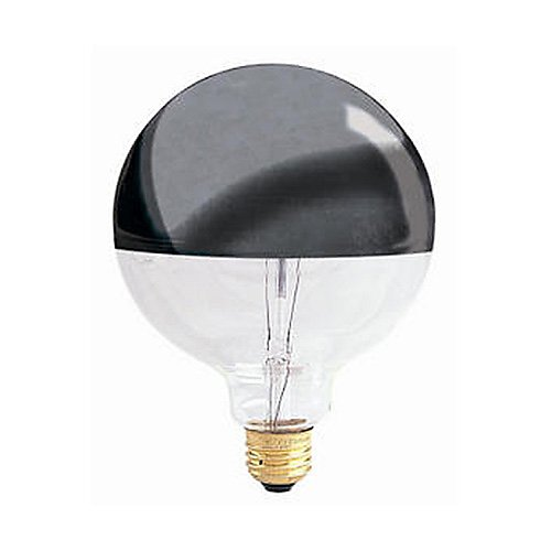 60-Watt G40/HM Half Mirrored Globe Bulb