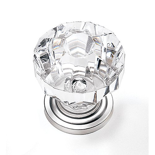"82159 Cabinet Knob 1-1/4"" Glass/Pewter By Laurey"