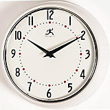 Infinity Retro Round white Wall Clock, 9.75""