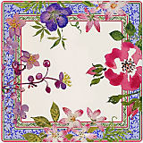 "Gien Millefleurs Square Plate, 11.5"" x 10.5"""