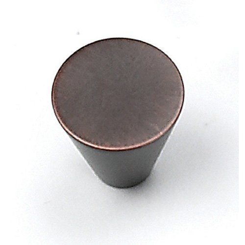 "26077 Small Cone Cabinet Knob 3/4"" Venetian Bronze By Laurey"