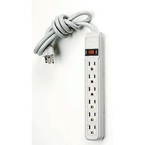 6-Outlet Surge Protector Strip