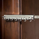 Premiere Sliding Belt Rack, Satin Nickel