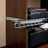 Premiere Sliding Tie Rack, Satin Chrome