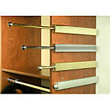 Premiere Closet Valet Rod, Satin Nickel