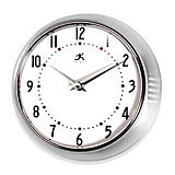 Infinity Retro Wall Clock- Silver 9.5""