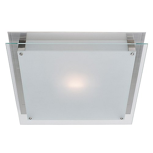 Square Frosted Glass Flush Mount
