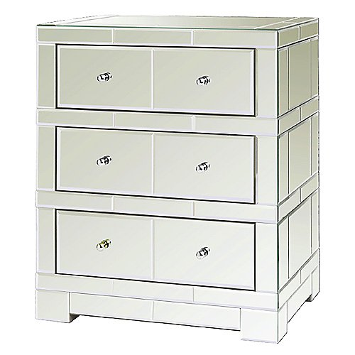 Bungalow 5 Andrea 3-Drawer Mirrored Bureau