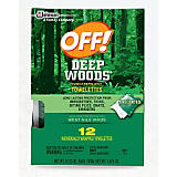 OFF! Deep Woods Insect Repellent Towelettes (12 Pack)