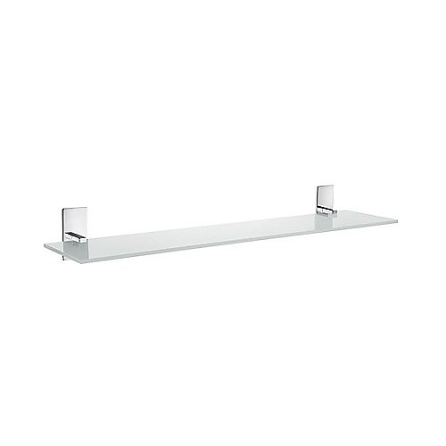 "Smedbo ZK347 Pool 24"" Glass Shelf Polish Chrome"