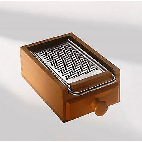Alessi Pear-Wood Flat Cheese Grater