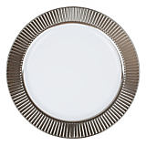 Celebration Silver Dinner Plastic Plate