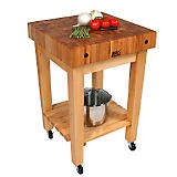 John Boos Gourmet Block Kitchen Coaster with Casters