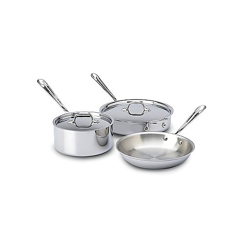 All Clad 5-Piece Stainless Steel Cookware Set