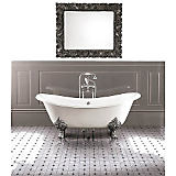 Devon & Devon Bath Tub w/White Enamel Decorative Feet