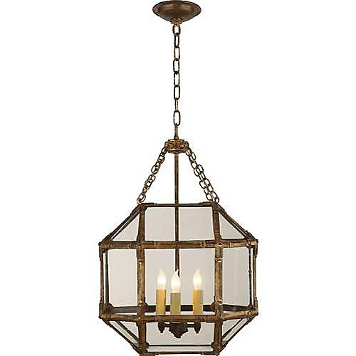 Visual Comfort Gilded Iron Small Ceiling Pendant