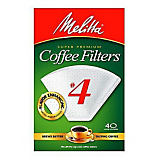 Melitta No. 4 White Filter Paper, 40 Ct.