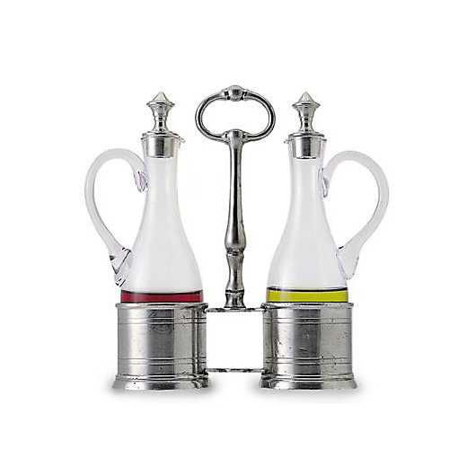 Match Pewter Oil and Vinager Set