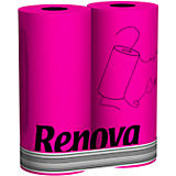 Gracious Home Exclusive Renova Colorful Paper Towels 2 Pack, Fuschia