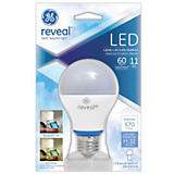 GE 11W A19/E26 General Reveal LED Bulb White