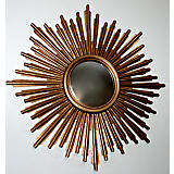 Dessau Home Antique Gold Sunburst Mirror