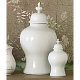 Global Views White Small Beaufort Ginger Jar