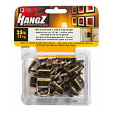 HangZ Flat Mount Wire 1 Hole D-Ring Hanger Pack, 25lbs