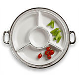 Match Pewter Convivio Round Sectional Platter