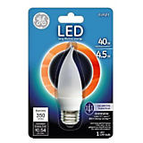 GE 4.5W CAM/E26 Decorative LED Bulb Daylight