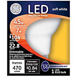 GE 7W RS20/E26 Indoor Floodlight LED Bulb Soft White