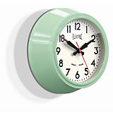 "Newgate 9"" Electric Wall Clock, Kettle Green"