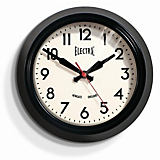"Newgate 9"" Electric Wall Clock, Black"