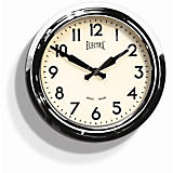 "Newgate 15"" Electric Wall Clock, Chrome"