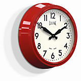 "Newgate 15"" Electric Wall Clock, Red"