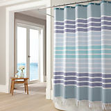 Bodrum Blue Shower Curtain