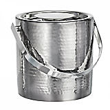 Marquis Hammered Ice Bucket with Tongs