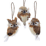 Brown Hanging Owl Ornaments