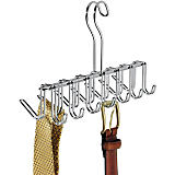 Classico Tie and Belt Rack, Chrome