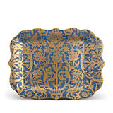 L'Objet Fortuny Pergolesi Blue Rectangle Platter